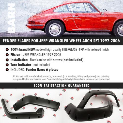 FENDER flares for JEEP WRANGLER wheel arch SET 1997-2006