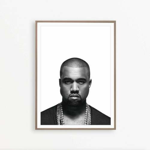 Kanye West Music Star Art Poster Print A3 A2 A1 Sizes
