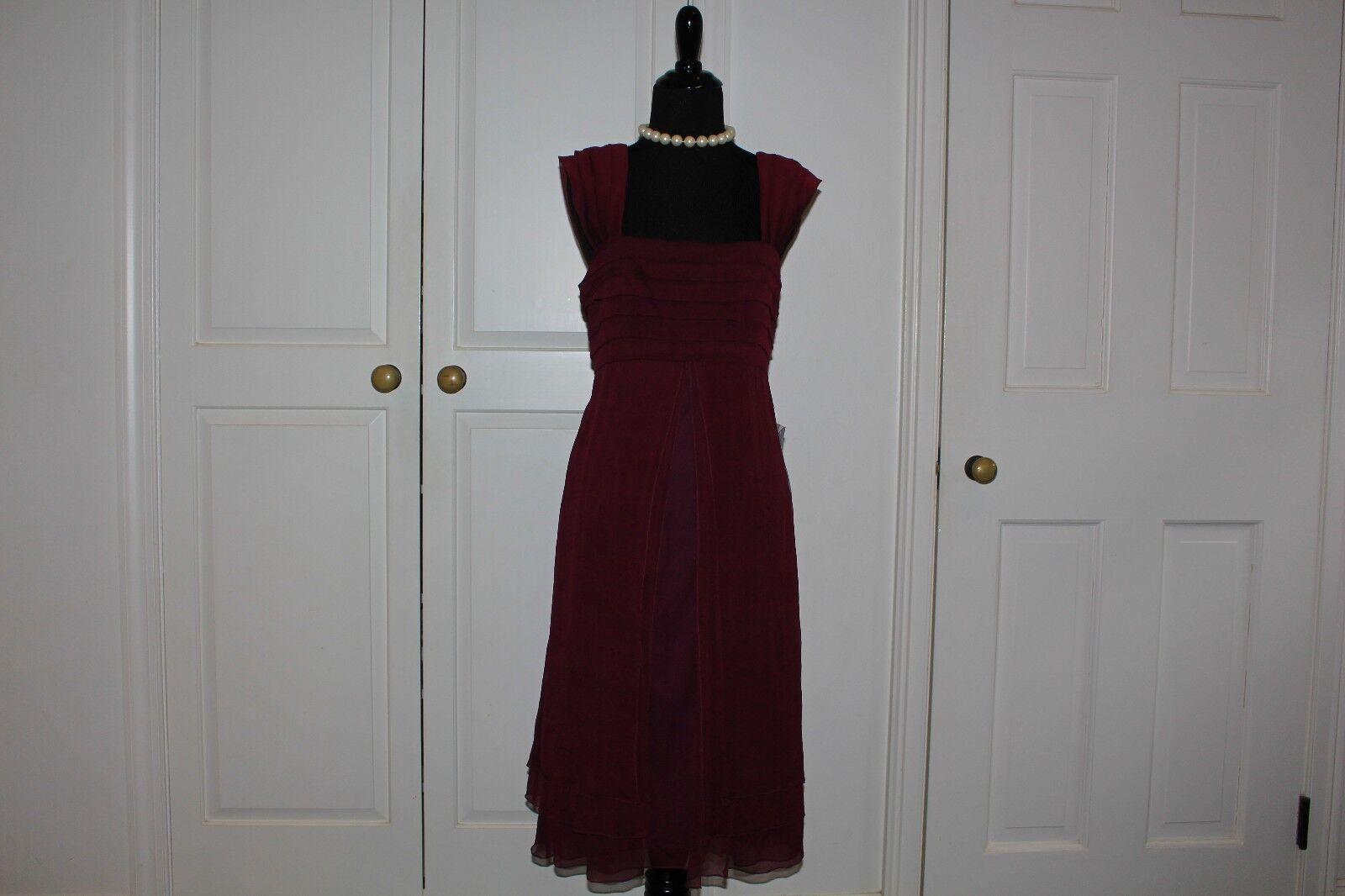 Ladies Purple Silk Tadashi Dress Size 6 New with Tags