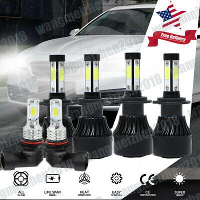 6x 9005 9006 H11 LED Headlight Kit+Fog Light 48000LM 6500K Cool White All-in-one