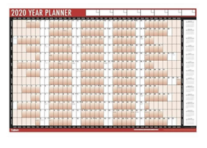 2020 Wall Planner Tallon Work Office Calendar Annual Year Meetings Appointments