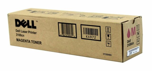Dell K4972 K5363 Magenta Toner Cartridge 3100cn Genuine Sealed Box (1-3 Pack)