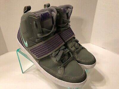 hot sale online aliexpress best choice Nike NSW Skystepper Basketball Shoes Gray Purple Accents 599277 ...