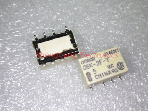 10PCS SMD 8pins 5V G6K-2F-Y-5VDC G6K-2F-Y-DC5V G6K-2F-Y-5V 1A OMRON Relay