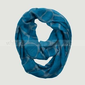 Giraffe Animal Print Block Circle Loop Wrap Infinity Scarf Multi Color Soft