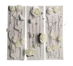 3 Verschiedene Dekobander Rosen Und Perlen Tisch Raum Deko