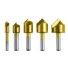 "5pc Titanium Countersink Drill Bit Set - 1/4"", 3/8"", 1/2"", 5/8"",  3/4"""