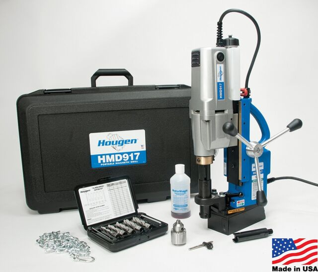 Hougen HMD904S 115 Volt Swivel Base Coolant Magnetic Drill Made in USA