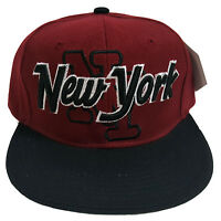 York Big City Style Two Tone Maroon/black Snapback