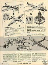 1957 PAPER AD Wen Mac Toy Turbojet Hiller's Flying Platform Drummer Bear Mechani