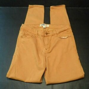 Old-Navy-Rockstar-Womens-Jeans-Size-12-Tall-Super-Skinny-Tobacco-Leaf-Sateen