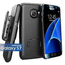 Encased® Samsung Galaxy S7 (Ultra Thin) Belt Case & Holster Clip w/ Kickstand
