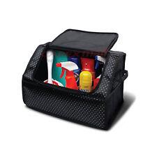 IPOP Car Trunk Cargo Organizer Lid Colsole Bag Storage Black Diamond Pattern