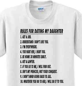 Image Is Loading Rules For Dating My Daughter Funny Fathers Day