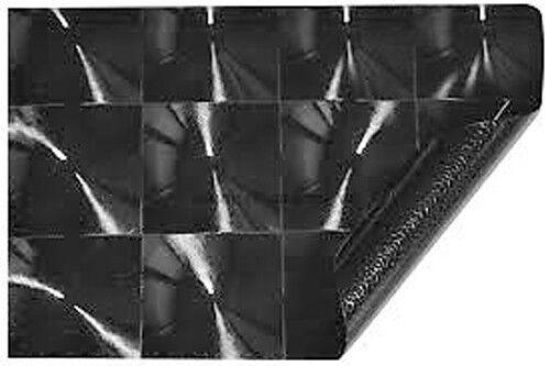 50cm x 1.52M Gloss Black Cat Eye 4D Carbon Fibre Fiber Vinyl Car Wrap Roll Film