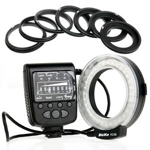 MeiKe FC-100 LED Macro Ring Flash Light with Ring for Canon Digital Camera