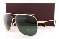 Brand New Tom Ford Sunglasses FT 451 Dominic 28N Gold/Solid Green Men