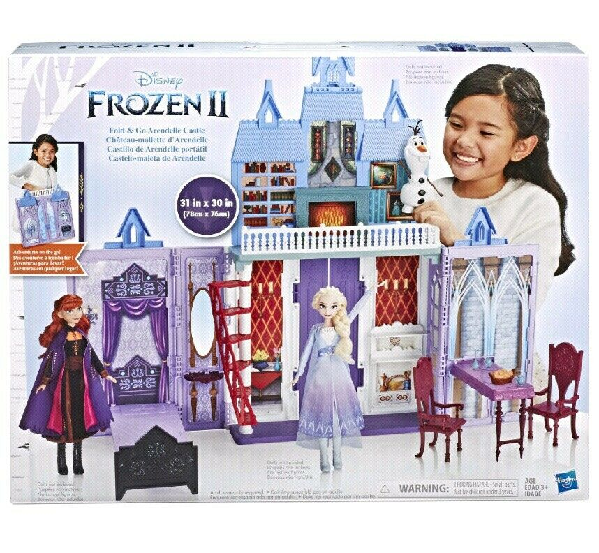 Frozen 2 Fold and Go Portable Arendelle Castle Dollhouse Playset