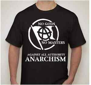 NO-GODS-NO-MASTERS-Slave-Obey-Atheist-AGAINST-AUTHORITY-anarchy-symbol-T-shirt