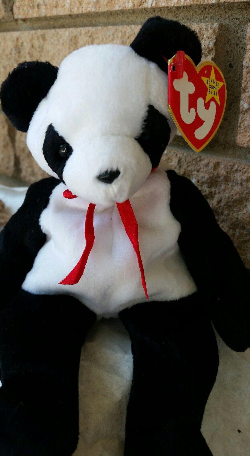 Panda vermögen ty beanie baby im ruhestand 12   6   1997 hintern fehler sammlerstück selten