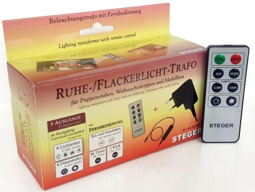 Kahlert 60977 Ruhe-Flackerlicht-Trafo 3,5Volt mit Fernbedienung