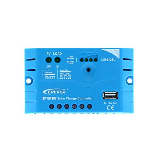 EP-Solar ls0512eu 12V 5 A USB Régulateur de charge solaire régulateurs Module