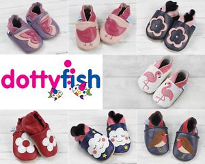 Suole antiscivolo Dotty Fish Scarpe in morbida pelle per neonati e bambini