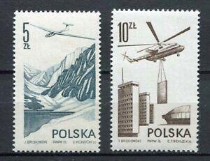 36062-Poland-1976-MNH-Air-Mail-Contemporary-Aviation-2v