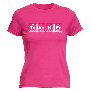 TEACHER PERIODIC TABLE ELEMENT WOMEN T SHIRT School College Funny