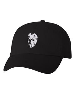 Image is loading Jason-Mask-Halloween-EMBROIDERED-Custom-Unstructured-Dad- Hat- 1092338a2aa