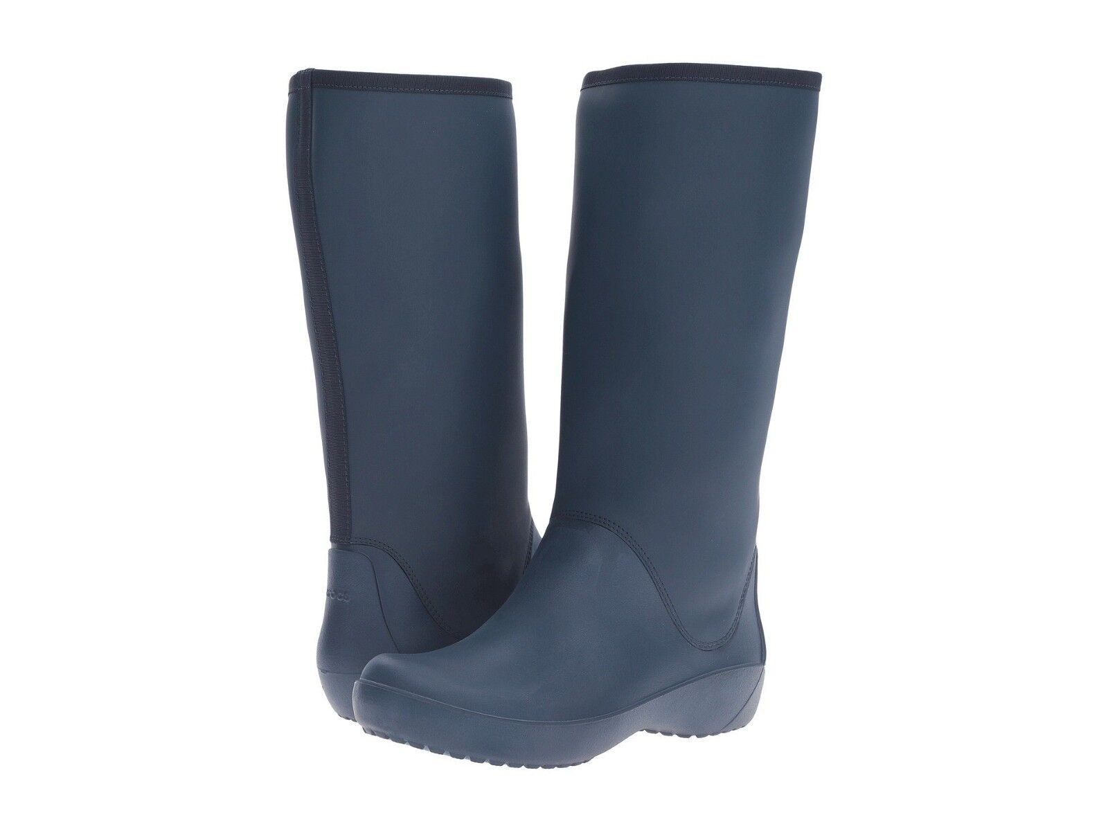 Crocs Womens Rain Floe Tall Boots Navy bluee Sz 7 7 7 New In Box 324fe6