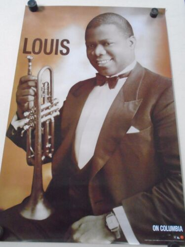 """Savoy Jazz New cond Louis Armstrong // 24 X 36/"""" Exc Promo Poster"""