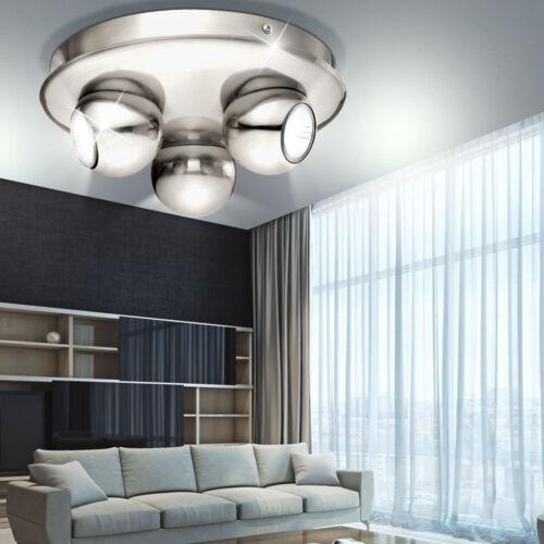 LED Deckenleuchte rund RGB Fernbedienung Farbwechsel Flur Dimmer Spots drehbar