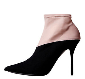 65308db29f81 NEW NIB  695 PIERRE HARDY COUTURE BLACK   NUDE KELLY ANKLE BOOTS ...
