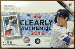 2019 年托普斯清楚正品棒球卡工廠原封 Hobby 盒 | 1 盒