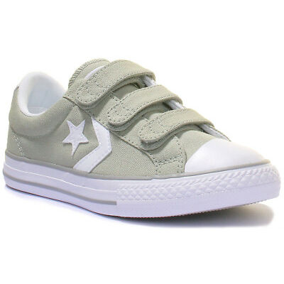 Converse Star Player Kids Ox Strap Lo Trainers