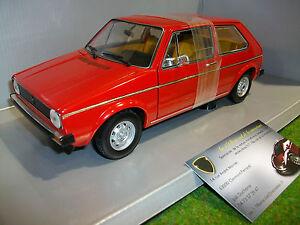 VOLKSWAGEN-GOLF-1-LS-rouge-echelle-1-18-VITESSE-voiture-miniature-de-collection