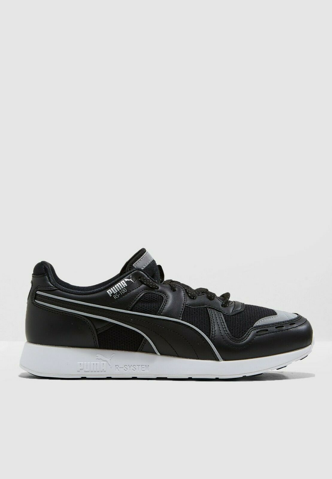 36802602 RS-100 Optic Hombre Mujer Running Zapatos Tenis Negro hit