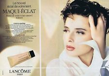 PUBLICITE ADVERTISING 045 1990 LANCOME maqui-éclat (2 pages)