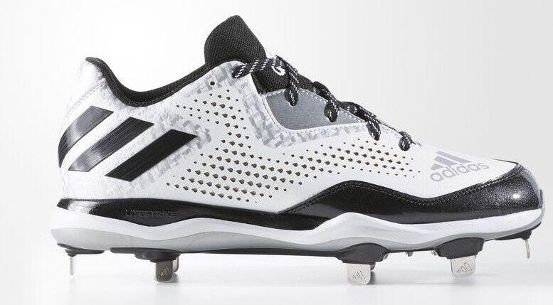 Adidas Leistung Alley 4 Metal Metal Metal Baseball Stollenschuhe Q16492 Weiß Schwarz Silber 35ca57