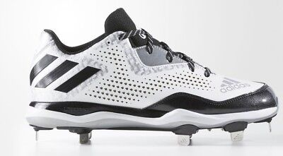 Adidas Power Alley 4 Metal Baseball Tacchetti Q16492 Nero Bianco Silver Misura 9 Giada Bianca