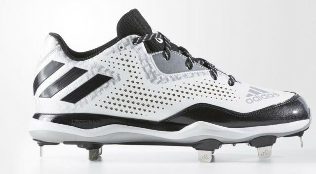 729aa428352a adidas Power Alley 4 Metal Baseball Cleats Q16492 White Black Silver size  12 New