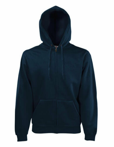CLASSICS HOODED SWEAT JACKET Fruit of The Loom Uomo Giacca Con Cappuccio Felpa