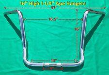 "16"" Chrome Ape Hanger 1-1/4"" Handle Bar fits Harley Davidson Road King & Touring"