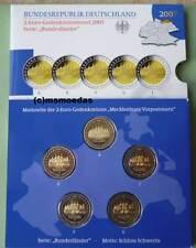 Deutschland Off. Blister 2-Euro-Gedenkmünzenset 2007 Schwerin 5 x 2 Euro Proof