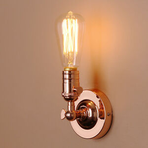Retro-Industrial-Style-Fer-Mansarde-Cafe-Rustique-Applique-Lampe-Lanterne-Murale