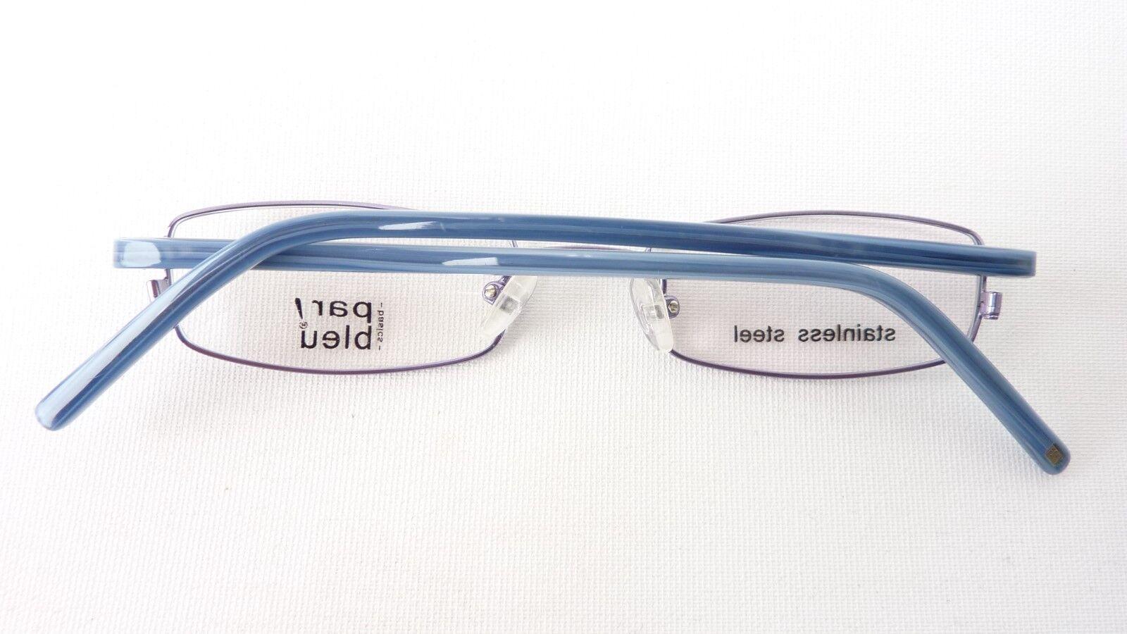 Brille Stahlgestell Fassung blau mit mit mit schmaler Form unisex Markengestell Gr S | Niedriger Preis  96c40f