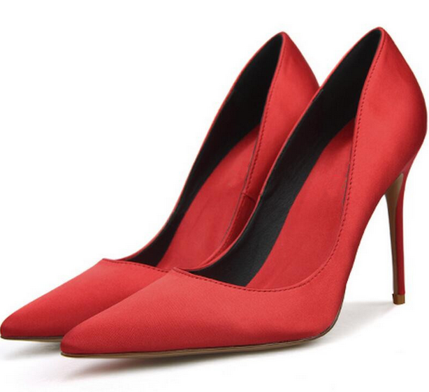 Donna Silk Satin Pointed Toe High Heels Heels Heels Bridal Stilettos Fashion scarpe Pumps New e86d72