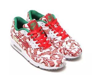 brand new a6e90 a9071 Image is loading Nike-Women-Air-Max-90-QS-Christmas-Sz-