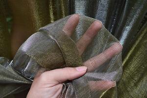 M20-Silver-Gold-Metallic-Iridescent-2-Tones-Stretch-Mesh-Net-Fabric-Material